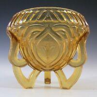 Sowerby #2602 Art Deco 1930s Amber Glass Rose Bowl / Vase