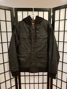 Empyre Surplus Co. ESC - Black Hooded Pocket Jacket (Size Small, Fits Medium)