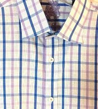 English Laundry 16 1/2 x 32 Men's Dress Shirt Flip Cuffs Long Sleeve Cotton Blue