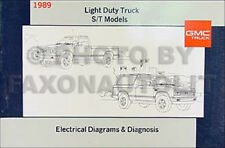 1989 GMC S15 Pickup and Jimmy Wiring Diagram Manual Electrical Schematic 89 S 15