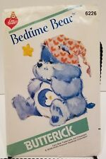 Care Bears Stuffed Bedtime Bear Butterick 6226 Vintage Sewing Pattern c 1983