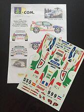 DECALS 1/24 TOYOTA COROLLA SAINZ RALLYE MONTE CARLO 1998 WRC RALLY HASEGAWA