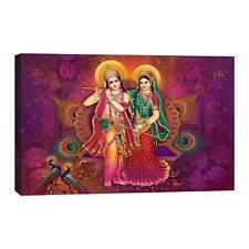 Digital Art Standing Radhe Krishna Canvas Painting