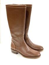 Nwob Ll Bean Womens Leather Tan Brown Tall Boots 7.5 M  Zipper