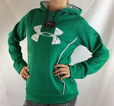 Under Armour Women's Fleece Sweater Hoodie Green Size 2XL