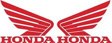 HONDA WINGS 2x 115mm Motorcycle Bike Tank Fairing Decals / Sticker ( RED )