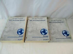 2001 FORD ESCAPE OEM/Factory workshop manuals and wiring diagrams