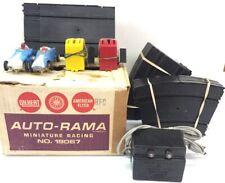 Gilbert Racing Auto-Rama 2 Car Miniature Tri-Oval Speedway 19067 Sold Not workin