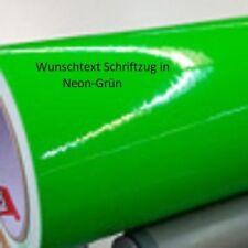 30cm Grün Neon Wunschtext - Folienschriftzug für Auto und vieles mehr