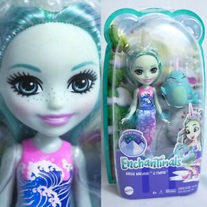 """Mattel 7"""" NADDIE NARWHAL & Sword Fish Enchantimals Sea Ocean Water Mermaid Doll"""