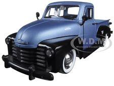 1953 CHEVROLET PICKUP TRUCK BLUE/BLACK WITH EXTRA WHEELS 1/24 MODEL JADA 97330