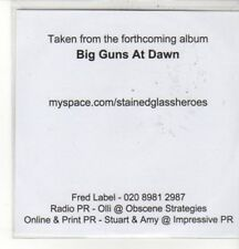(CZ870) Stained Glass Heroes, Insects / Big Guns at Dawn - 2009 DJ CD