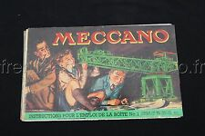 P296 Rare Catalogue vintage  MECCANO boite 1 french export 13/952/5 14 pages