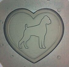 "Flexible Resin Or Chocolate Mold ""I Heart My Boxer"" Dog"