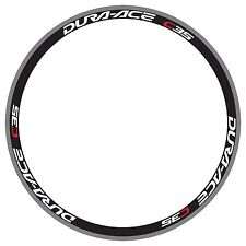 DURA ACE C35 WHITE/RED REPLACEMENT RIM DECALS FOR 2 RIMS