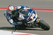 Randy De Puniet MotoGP Hand Signed Power Electronics Aspar ART Photo 12x8 2013 7