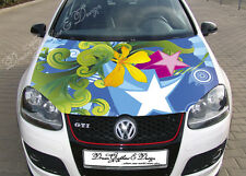 Flower Star Full Color Graphics Adhesive Vinyl Sticker Fit any Car Bonnet #081