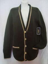 NWT Juicy Couture Distant Pine LS BF Cardigan Lurex Sz-L