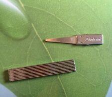 Zahnstocher Zahnfreund 5cm echtes Silberblatt wiederverwendbar Etui platinfarben