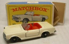 Lesney MATCHBOX #27 Mercedes-Benz 230L, Cream Body, Red Interior, Unp. Base