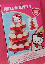 Hello Kitty Cupcake/Treat Stand, Cardboard,Pink/Red,Wilton,1512-7575,