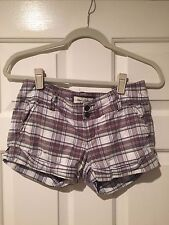 Women's Abercrombie & Fitch Brown and Plaid Cuffed Shorts - Womens's Sz 0-EUC