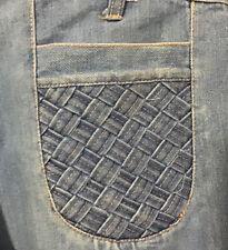 Vintage 1970s Jandy Jeans Bell Bottoms Faded Denim 100% Cotton