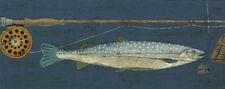 5 BORDERS - Fly Fishing Sportsman's Wallpaper Border