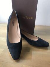 Jon Josef Navy Blue Suede Leather, Kitten Heels, Size 10