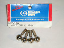 THUNDER TIGER R/C MODEL CAR PARTS PD1499 10.8MM ADJUST BALLSx4 FOR MONSTER TRUCK