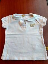 Baby Girls Steiff Knopfimonr Pink stripe short sleeve Top Age 12 Months