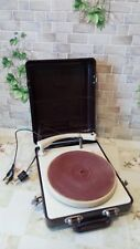 "Vintage USSR 1950"" GRAMOPHONE PHONOGRAPH Portable Record Player - MMZ"