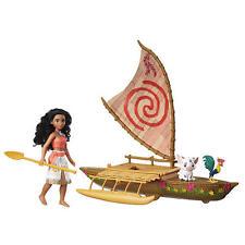 Disney Moana Starlight Projector Canoe and Friends Heihei & Pua Toy Sail Boat