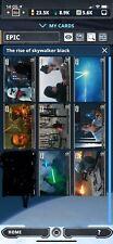 Topps Star Wars Card Trader Rise of Skywalker Series 2 Black Lot of 8