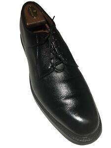 Allen Edmonds Men's Leeds Black Calfskin Pebble Grain Leather Derby's - Size 11A
