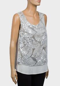 Ladies SLEEVELESS SEQUINNED TOP Blouse Vest Plus Size UK 16 - 20 EUR 44- 50