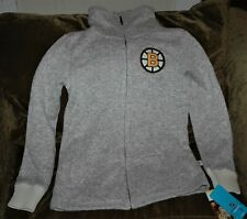 Boston Bruins FLEECE jacket women's small NEW with Tags CCM NHL winter gear 2017