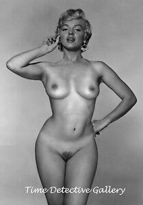 Marilyn Monroe Nude #2 - Vintage Celebrity  Photo Print