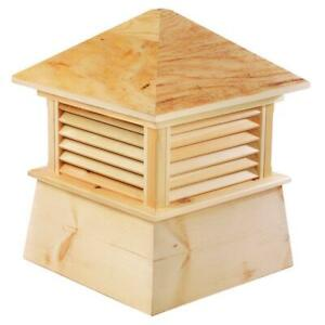 Good Directions Wood Cupola 14 in. x 18 in. Square Weather Resistant Louvered