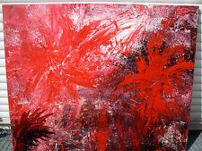 Acrylbild IM ROTEN FARNWALD abstrakte Malerei Acrylmalerei Gemälde