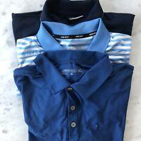 Nike Golf Polo Lot 3 regular fit shirts blue white indigo solid striped