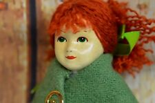 "The Irish Little People SI-OG Doll Maureen Actress 9"" Handcrafted Ireland Tweed"