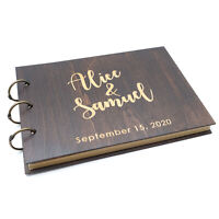 Personalized Wedding Guestbook Custom Name Guest Book Wood Book Wedding Gift