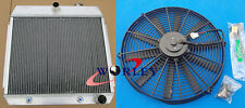 3 Core for Chevy Bel Air V8 W/Cooler 1955 1956 1957 55 56 Aluminum Radiator+FAN