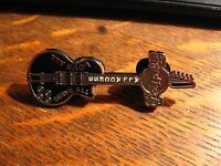 Hard Rock Cafe Lapel Pin - All Access Black Silver Guitar Instrument CHNVF Badge