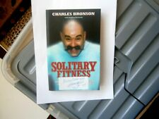 ✔ Charles bronson  Signed Salvador  Original Solitary Fitness.Book ✔