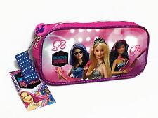Barbie Pink Pen Pencil Case Bag Pouch Kid Girl Gift #400