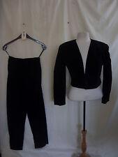 Vestito da donna-Debut, Taglia 14, Nero, velluto, OCCASIONE, anni'80 Look, Suit - 2483