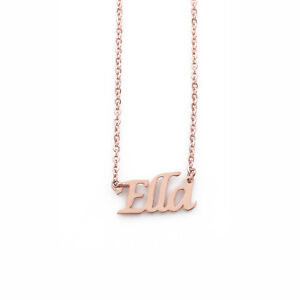 """""""Ella"""" Name Necklace Stainless Steel/ 18ct Rose Gold Plated 