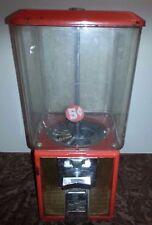 Vintage E26623 Northwestern Red GOLD 5 Cent GUM Ball TOY Candy Machine Dispenser